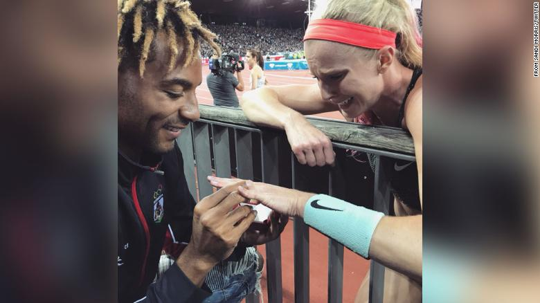 The couple got engaged at a meet in Zurich, Switzerland, in 2018.