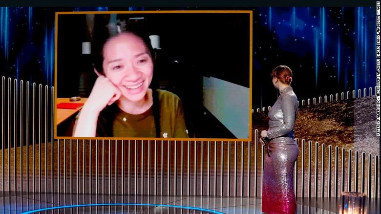 Chloé Zhao makes history at Golden Globes