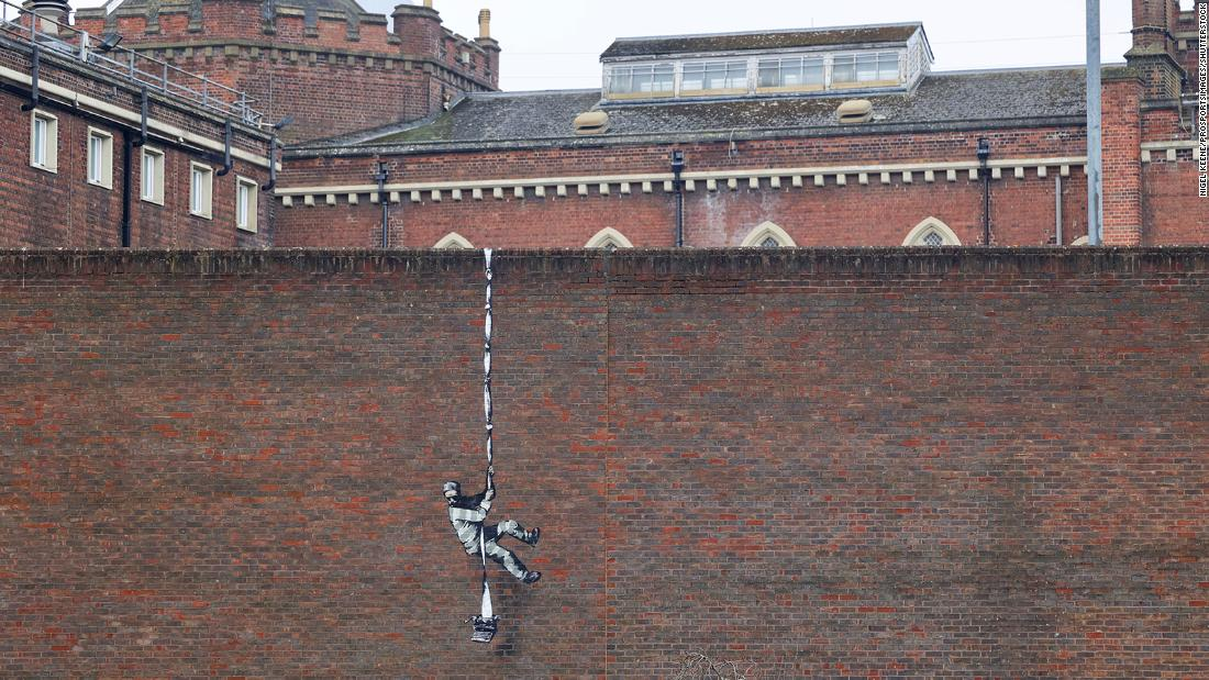 Is Banksy behind this prison-escape mural on jail wall?