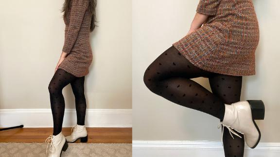 Wearing Sheertex's Cross My Heart Sheer Tights