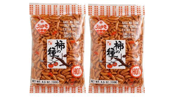 Uegaki Beika Extra-Hot Rice Crackers, 2-Pack