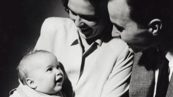 Bush was born in New Haven, Connecticut, on July 6, 1946. Here, he looks up at his parents, George and Barbara, as they pose for a portrait in April 1947.