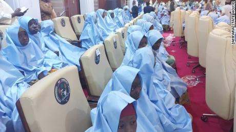 The armed men kidnapped the girls while raiding a state-run school in Zamfara State, northwest Nigeria.