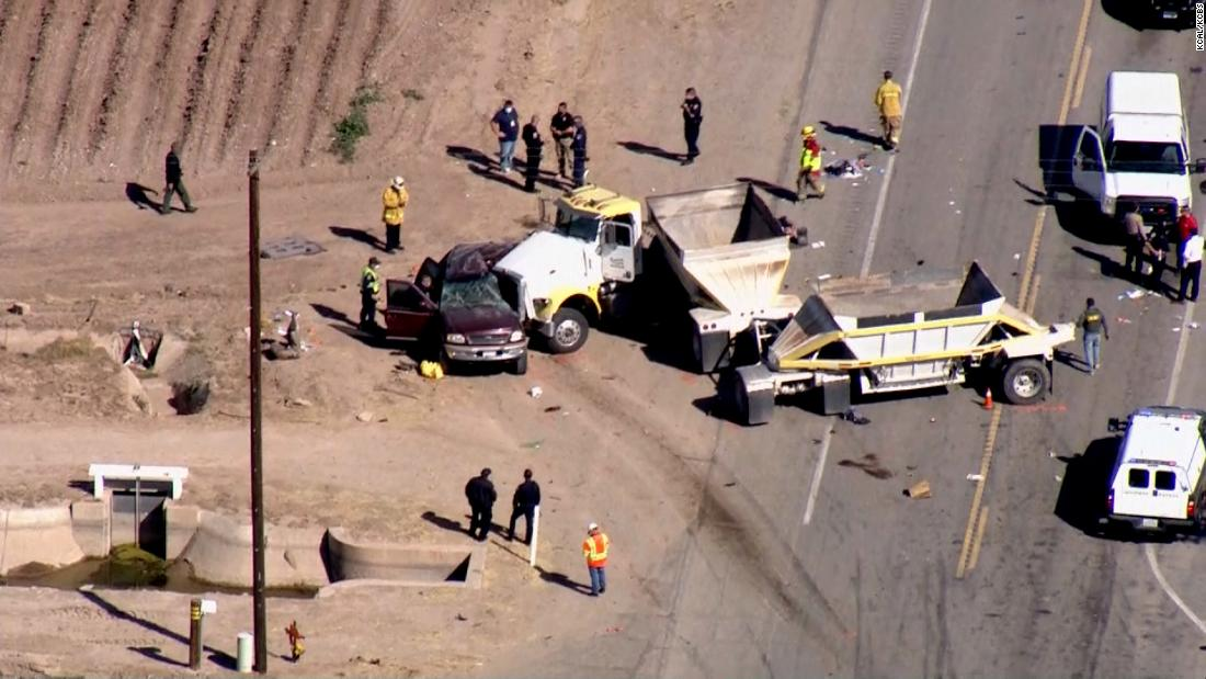 Over a dozen killed after SUV carrying 25 people crashes into truck