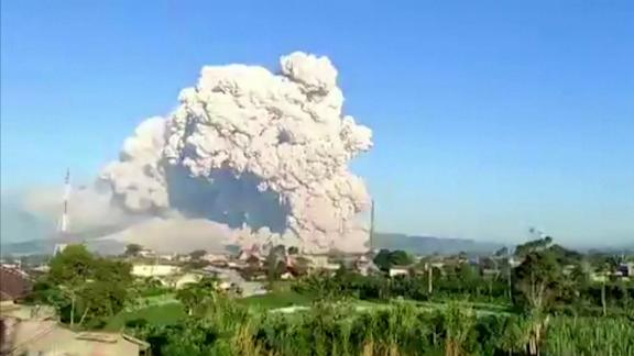 Mount Sinabung in Indonesia erupted on March 2, launching a cloud of ash and dust several kilometers into the sky. No one was injured in the eruption but authorities have warned people to stay away from the crater.