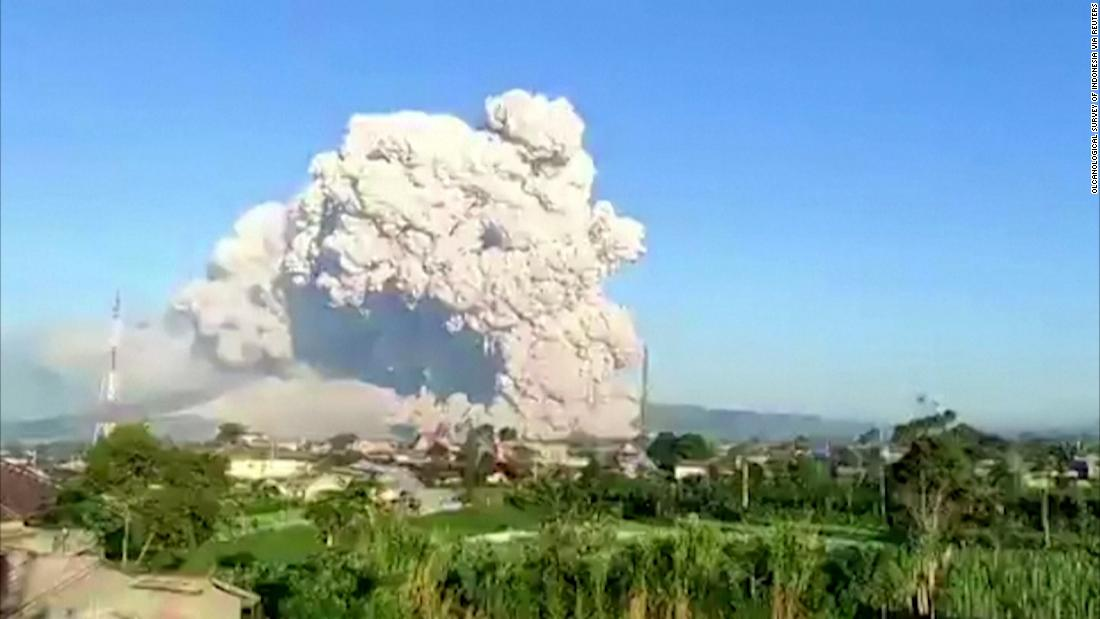 See this volcano in Indonesia erupt
