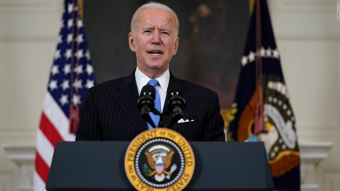 Biden says US will have enough vaccine for every adult two months earlier than previous goal