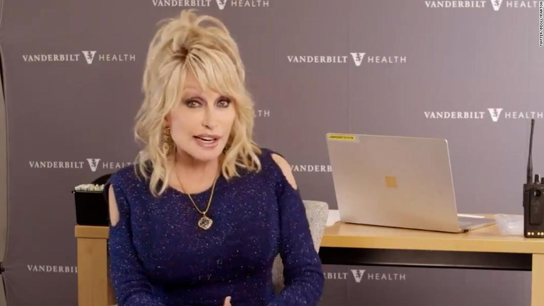 Dolly Parton updates 'Jolene' as she gets Covid-19 vaccine