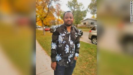 Felly Mwamba in Winnipeg, Canada.