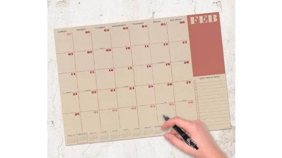 The Time Factory 2021 Desk Pad Calendar
