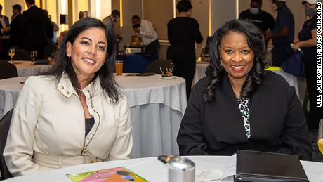 Clemmie Perry (right) and WOCG Advisory Board Member, Vasti Amaro (left).