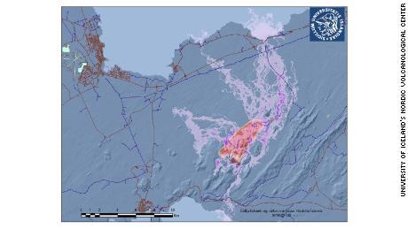 Ερευνητές στο Πανεπιστήμιο της Ισλανδίας στο σκανδιναβικό ηφαιστειακό κέντρο έχουν μοντελοποιήσει τις ροές λάβας στη χερσόνησο του Ρέικιαβκ.