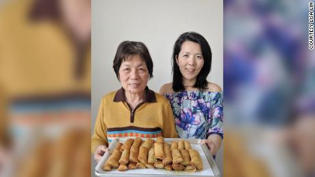 "Lisa Lin, right, pictured with her mom, affectionately called ""Mama Lin"" in videos and social media content with Lisa."