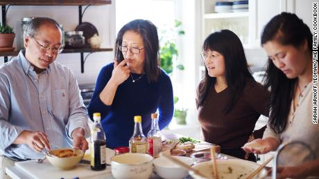 Bill, Judy, Kaitlin and Sarah Leung, pictured from left to right, are the family behind The Woks of Life.