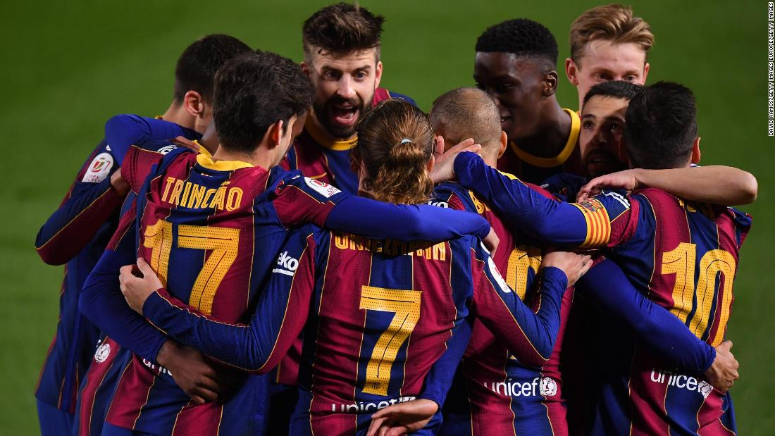 Barcelona given some respite from off-field issues with stunning comeback to reach Copa del Rey final