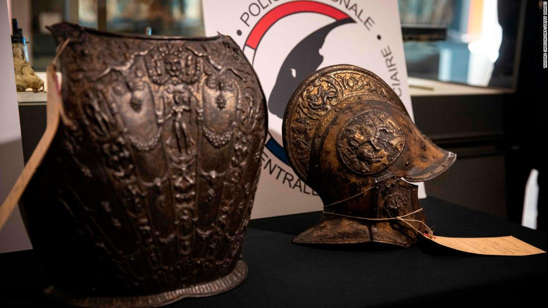 Stolen 16th-century armor returned to Louvre decades after theft