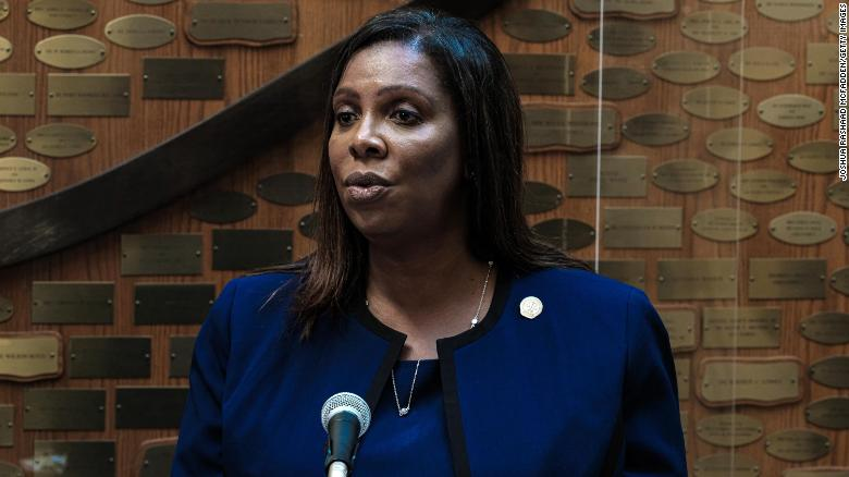 New York State Attorney General Letitia James speaks at a news conference on September 20, 2020 in Rochester, New York.