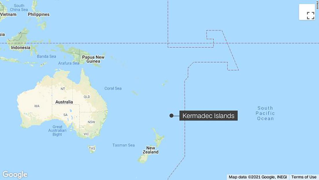 6.0 Magnitude Earthquake Strikes Kermadec Islands Region Near New Zealand