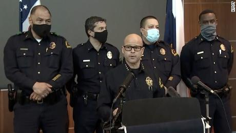 Dallas Police Department Chief Eddie García briefs reporters on Thursday, March 4, 2021.