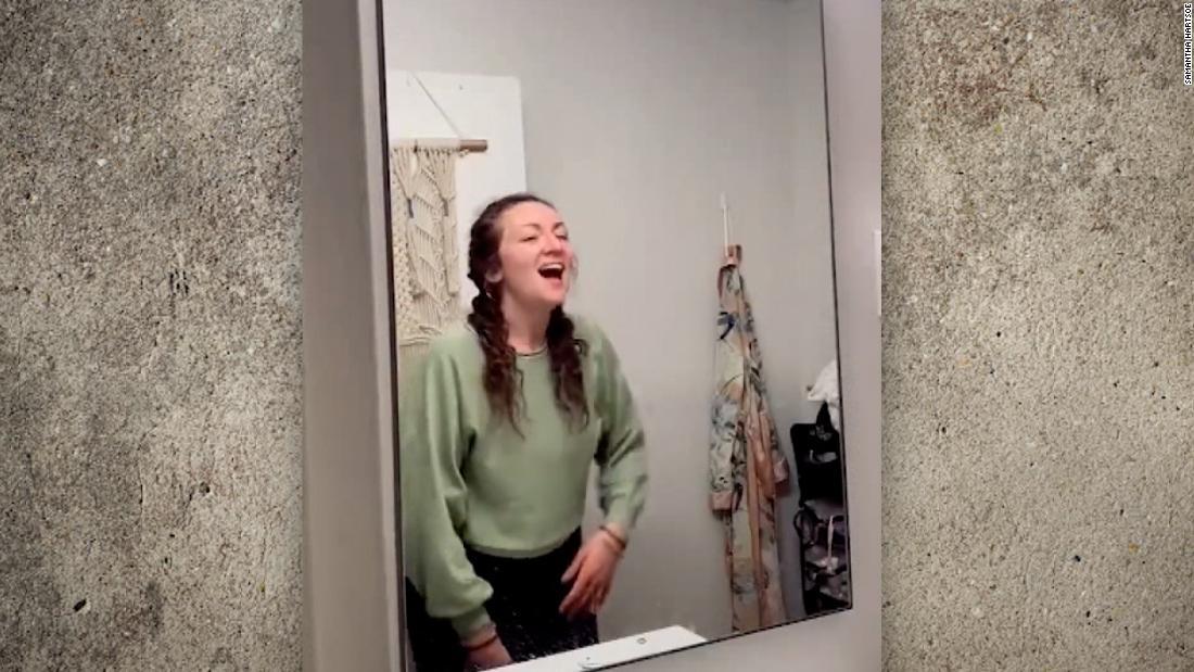 TikToker finds hidden surprise behind bathroom mirror