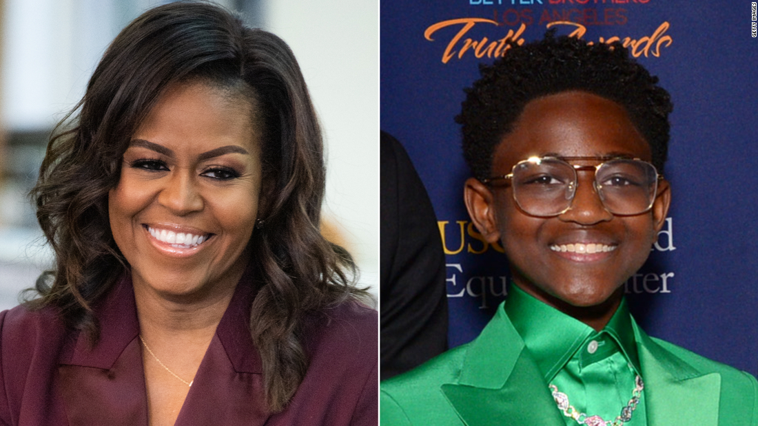 Michelle Obama has a moving conversation with Dwyane Wade's daughter