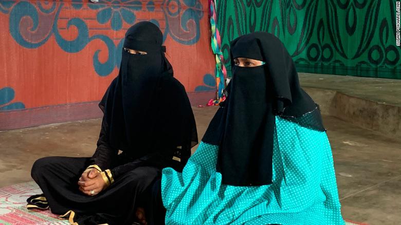 Naseeba (left) and Hadia (right), photographed in January 2020.
