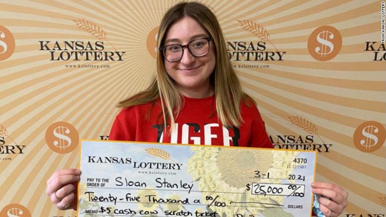 An 18-year-old wins $25,000 on her very first lottery ticket