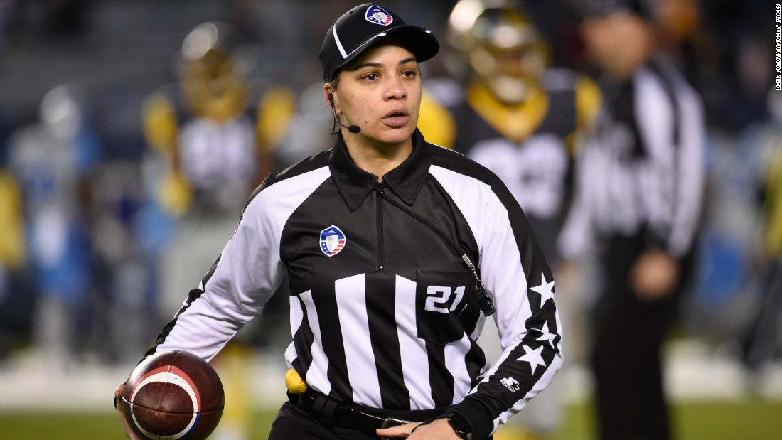 NFL picks its first Black female game official