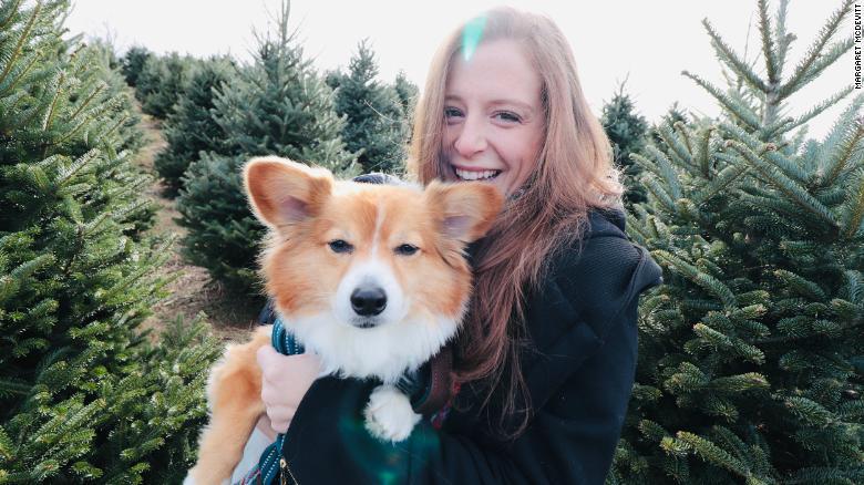 McDevitt with her dog, Simon.