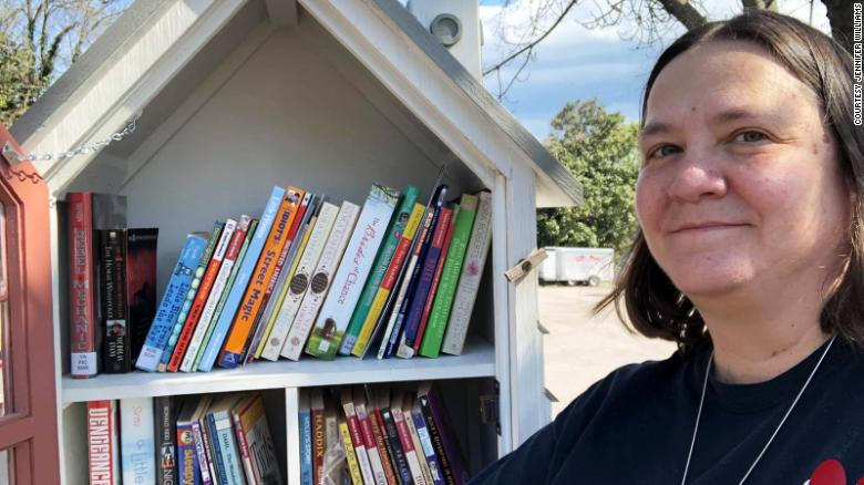 A woman, nicknamed 'book lady,' wants to give away one million books to her community