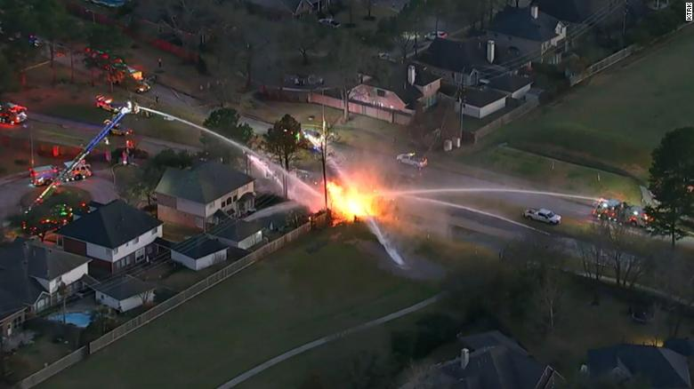 At least 6 people hospitalized after a natural gas explosion and fire in Texas