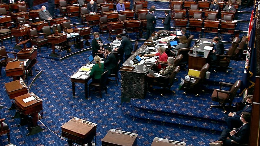 Senate slogs through overnight series of votes