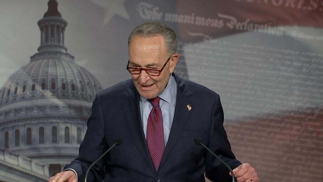 Schumer takes a swipe at McConnell following Senate's vote