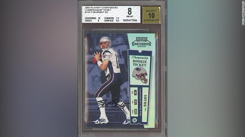 Tom Brady rookie card sells for record $1.32 million