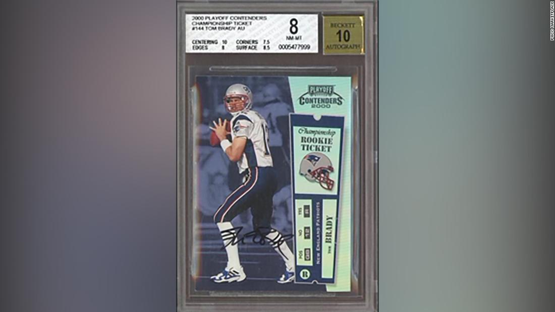 Tom Brady rookie card sells for record .32 million