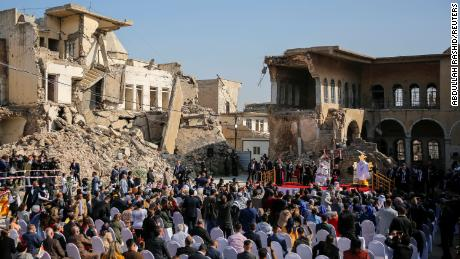 Amid the rubble of Mosul, Pope Francis declares hope 'more powerful than hatred'