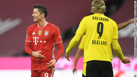 Robert Lewandowski replied to Erling Haaland's brace with a hat trick on Saturday.
