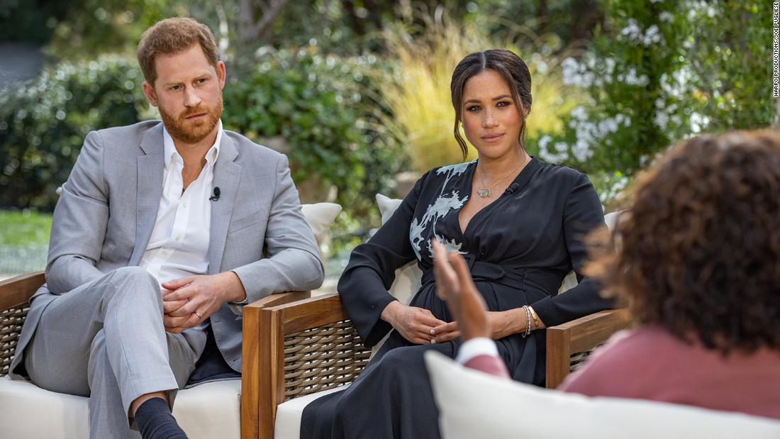 Meghan wears Diana's diamond bracelet during interview