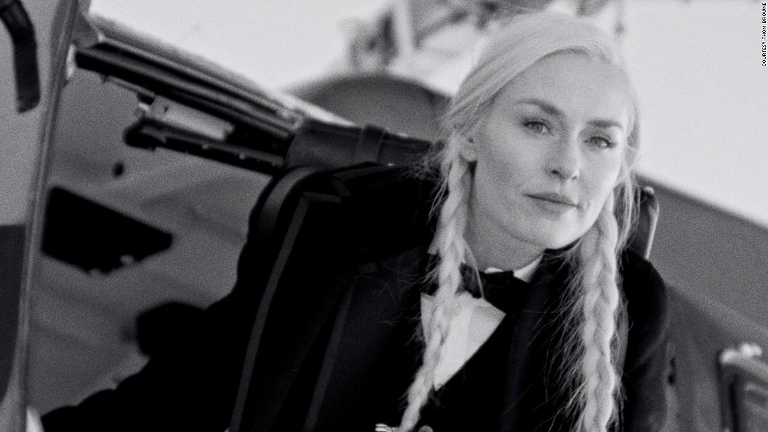 Lindsey Vonn dusts off her skis to star in Thom Browne film during Paris Fashion Week