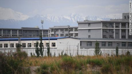 This photo taken on June 4, 2019 shows a facility believed to be a retraining camp where most Muslim ethnic minorities are being held north of Akto in China's northwestern Xinjiang region.
