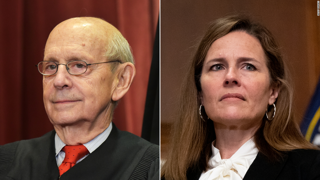 Stephen Breyer adds 'respect' to his dissent of Amy Coney Barrett's first opinion