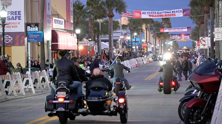Around 300,000 people are expected at a Florida motorcycle rally despite the pandemic