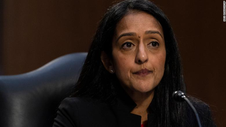 Republicans clash with Biden DOJ nominee Vanita Gupta