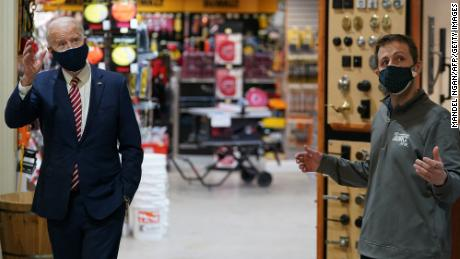Biden visits DC hardware store to highlight Paycheck Protection Program