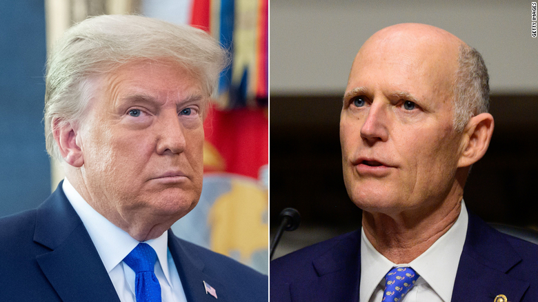 Trump expected to meet with Sen. Rick Scott amid GOP divide over former President