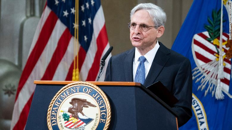 Merrick Garland arrives at Justice Department and delivers an implicit rebuke to Trump era
