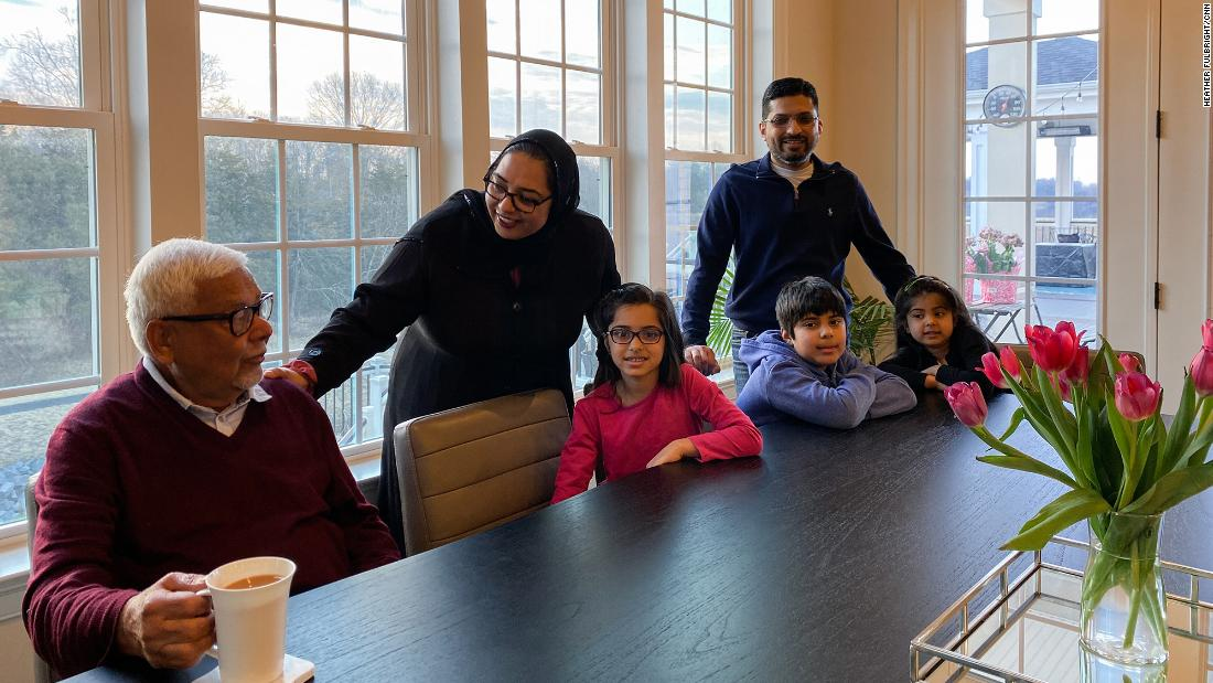 Talat Mangla works remotely out of her home in Northern Virginia, where she lives with her husband,  her three kids and her parents.