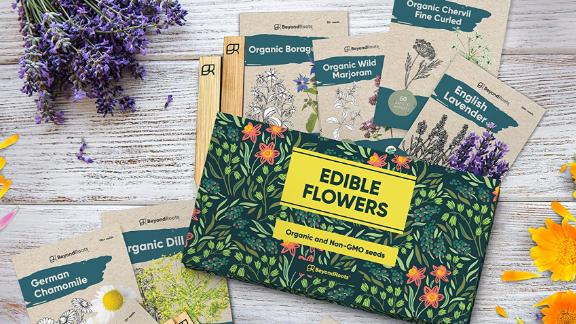 BeyondRoots 100% Edible Flower Seeds for Planting