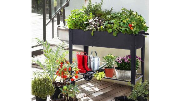 Foyuee Raised Planter Box