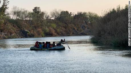 CNN observed a raft taking migrants across the Rio Grande to Texas multiple times.